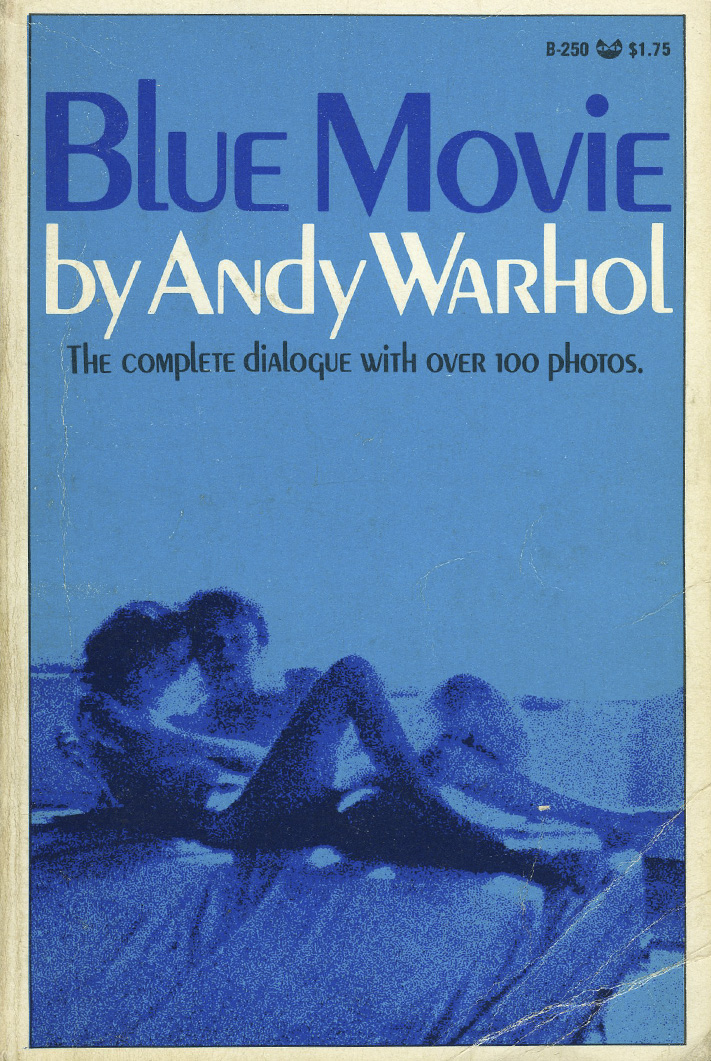 andy warhol blue film cover