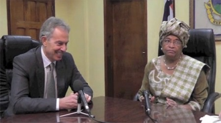 Tony Blair &amp; Ellen Johnson Sirleaf