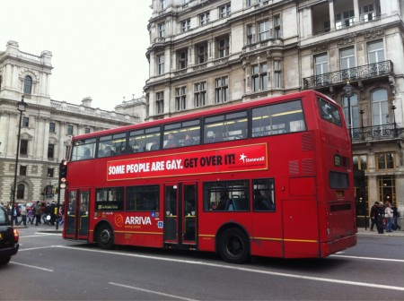 A Stonewall London bus