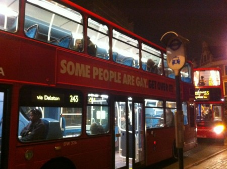 Stonewall bus campaign ad