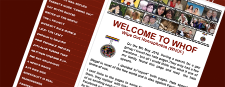 Screenshot of Wipe Out Homophobia home page