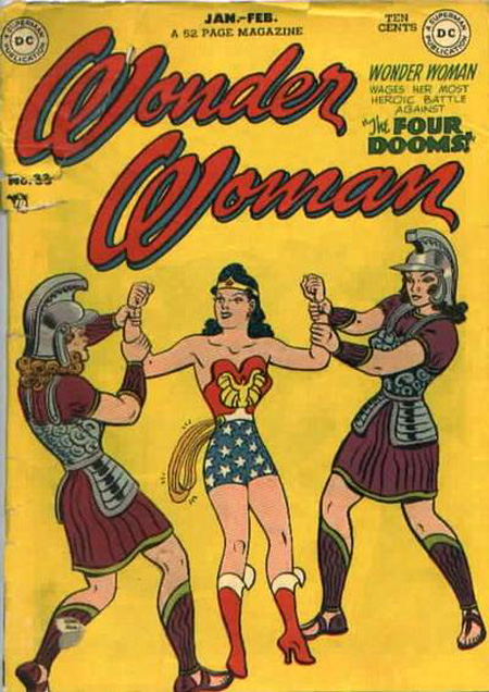Wonder Woman cover with gladiators