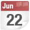 June 22 date icon