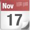 November 17, date icon
