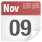 November 9 date icon