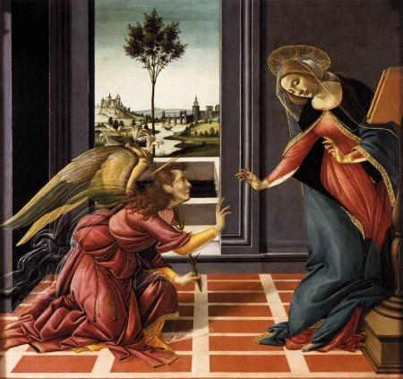 Cestello Annunciation (After Botticelli), Polari Bible