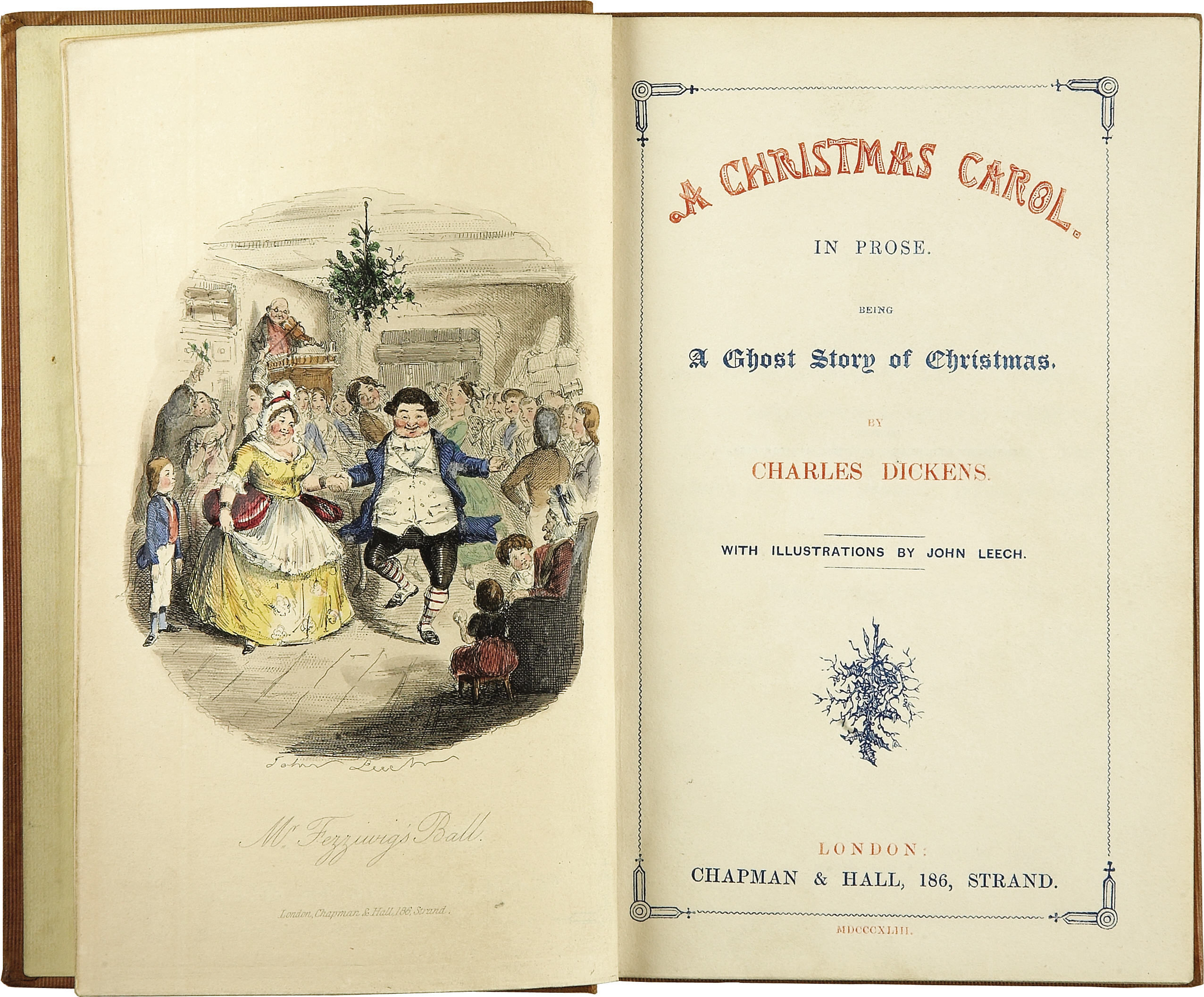 Title page for A Christmas Carol, Charles Dickens