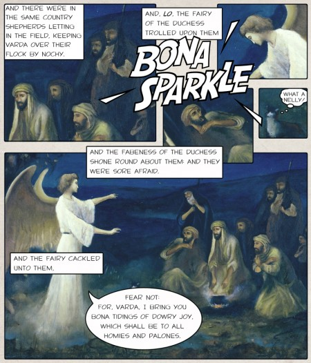 Luke 2, 8-10, Polari Bible