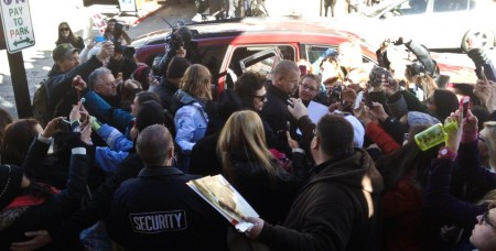 James Franco mobbed, Sundance Film Festival