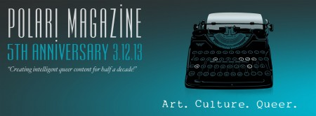 Polari Magazine 5th Anniversary Banner